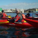 kayak de mer avec le groupe adulte du CKB
