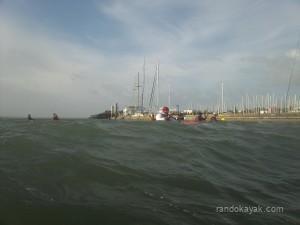 kayak Idhao en rade de Brest - Photo de Jean-Luc