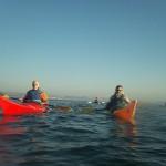 Cours de kayak de mer en rade de Brest, avec Marco, moniteur du CKB