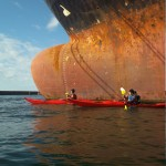 kayaks de mer au port de Brest