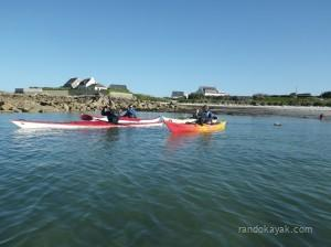 Balade en kayaks de mer en Bretagne nord, à Kerlouan