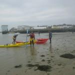 kayaks de mer dans la ria d'Etel