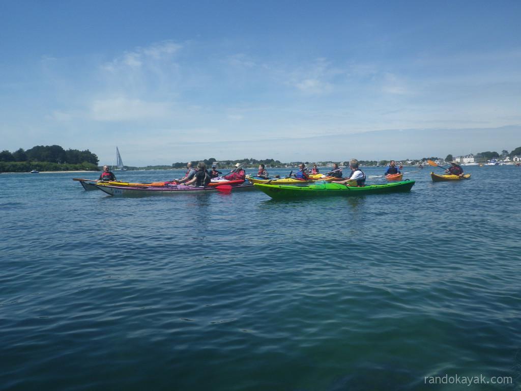 Balade en kayak de mer du ckca en bretagne sud dans le for Balade golfe du morbihan