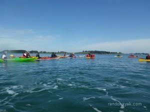 Avec le club de kayak de mer d'Auray, en balade dans le Golfe du Morbihan.