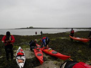 Randonnée en kayak du CDCK29 à l'île de Béniguet.