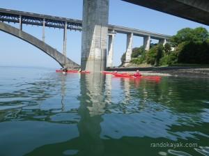 Balade en kayak de mer au pont de l'Elorn.