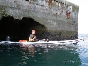 Alain en kayak de mer