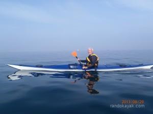 Alain C. en kayak de mer à l'île Ronde