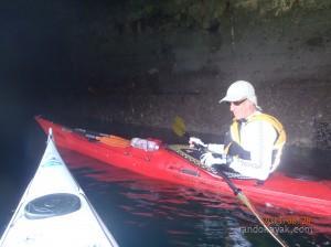 Jef avec son kayak de mer Atlantic aux Ducs d'Albe
