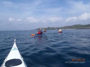 en kayak, vers la pointe d'Armorique