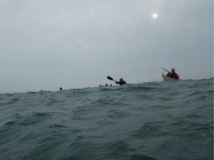 Balade en kayak de mer dans le Goulet