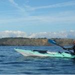 En kayak de mer dans le goulet de Brest.