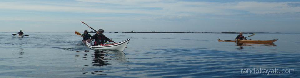 Randonnée en kayak de mer dans l'archipel de Molène.