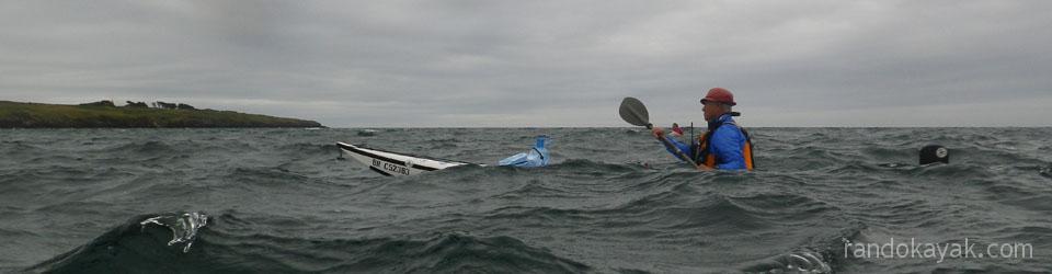 Retour de randonnée en kayak de mer à l'archipel de Molène.