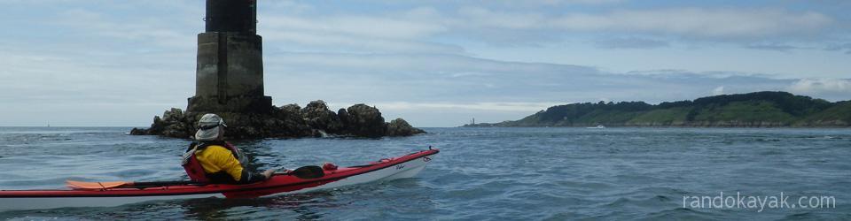 Au Mengam, au retour d'une randonnée en kayak de mer à Camaret