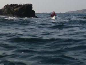 La pointe du Cormoran, lors de notre randonnée en kayak de mer du Conquet à Océanopolis