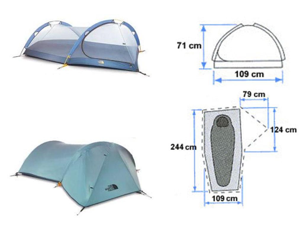 Tente Mountain Marathon de North Face. Pour les randonnées en kayak de mer.