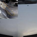 Attaches pour permettre de maintenir le kayak dans l'axe de la voiture en cas de vent latéral.