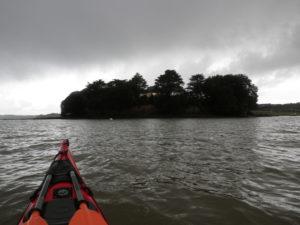 kayak de mer île de Tibidy en rade de Brest