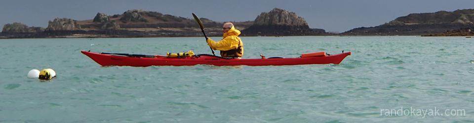 Randonnée en kayak de mer autour de l'île de Bréhat.