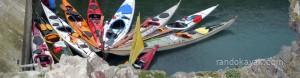 kayaks de randonnée en mer, à l'ile Saint-Marcouf