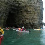 Kayakistes de mer à Grandcamp.