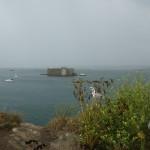 Le château du Taureau vu de l'île Louet