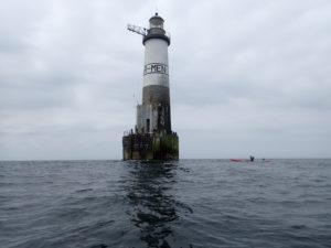 Randonnée en kayak de mer au phare d'Ar-men.