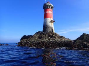 Randonnée en kayak de mer au phare des Pierres Noires.