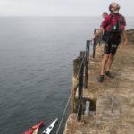 Kayakistes au phare du Four.