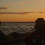 en kayak de mer au lever du jour à l'île Callot