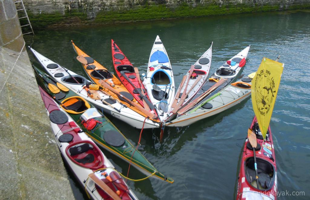 Kayaks de mer de randonnée à l'ile Saint-Marcouf
