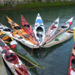 kayaks de randonnée en mer à l'ile Saint-Marcouf