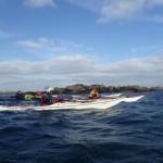 Retour de balade à Stagadon en kayak de mer