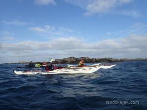 Retour de balade en kayak de mer à Stagadon