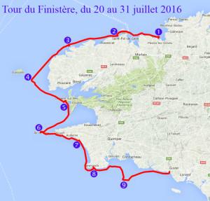 Grande randonnée en kayak de mer du Tour du Finistère - du 20 au 31 juillet 2016