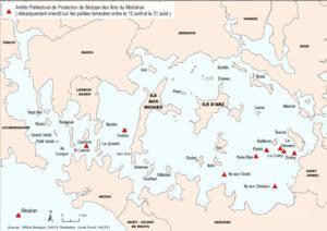 Réglementation de l'accès aux îles du golfe du Morbihan (56).