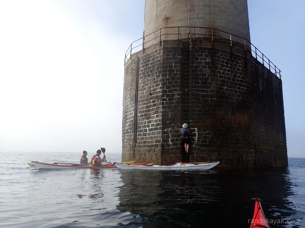 En kayak de mer de randonnée au phare de Kéréon.
