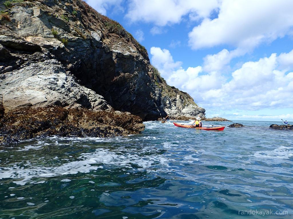 Rase cailloux en kayak de mer à Belle-île.