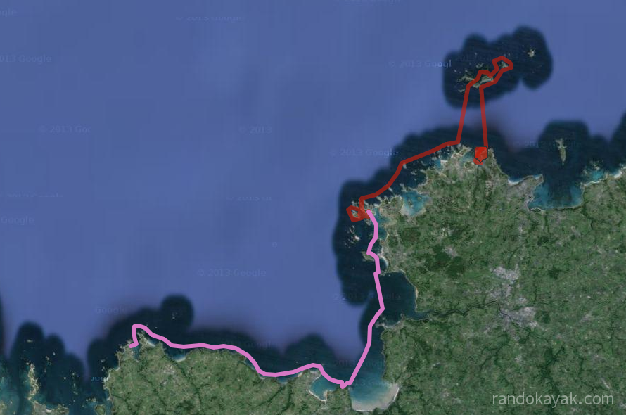 Randonnee en kayak de mer, de Ploumanac'h a Primel, en passant par les 7 îles, en 2 jours