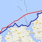 Itinéraire et tracé de notre randonnée en kayak de mer, de Cancale au cap Fréhel, en passant par l'île de Cézembre. En 3 jours.