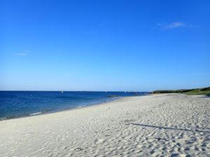 La plage est d'Hoëdic.