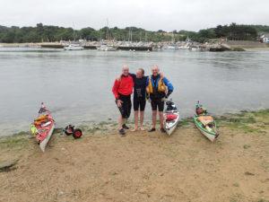 Arrivée au Pouldu au terme de notre grande randonnée en kayak de mer du Tour du Finistère.
