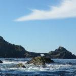 En kayak de mer à la pointe des Capucins.