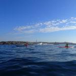 Kayak de mer à l'ouest de l'île de Batz.