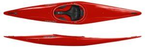 Le Fox en polyéthylène est un bon kayak pour l'apprentissage du slalom. (358 cm x 61 cm).