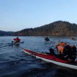 Départ de Térénez en kayak de mer.