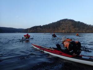 Départ de Térénez pour une randonnée en kayak de mer.