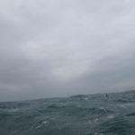 La mer du vent devant l'île de Trébéron.