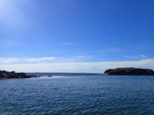 Randonnée en kayak de mer, la pointe d'Armorique et île Ronde.